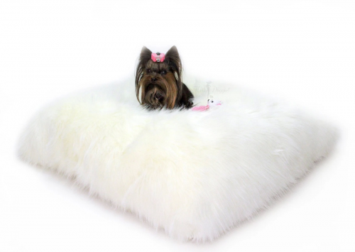Soft Dog Bed in Ivory