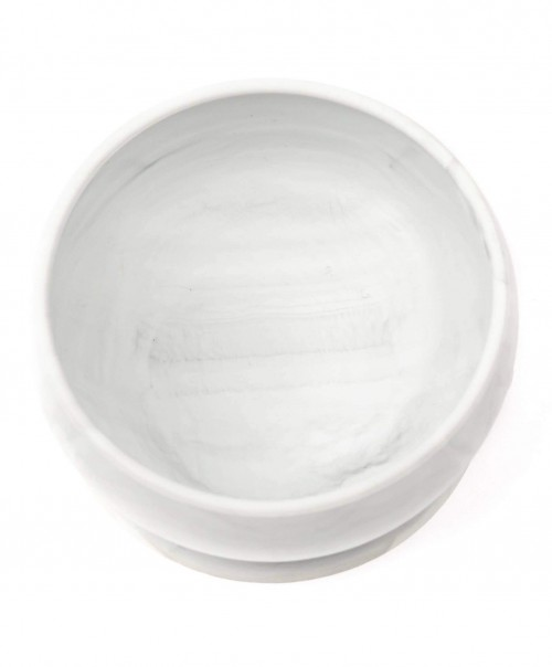 Marble Silicone Suction Food & Water Bowl