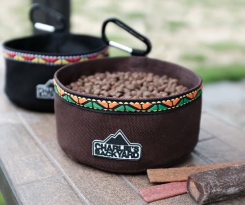 Portable Food & Water Bowl in Black
