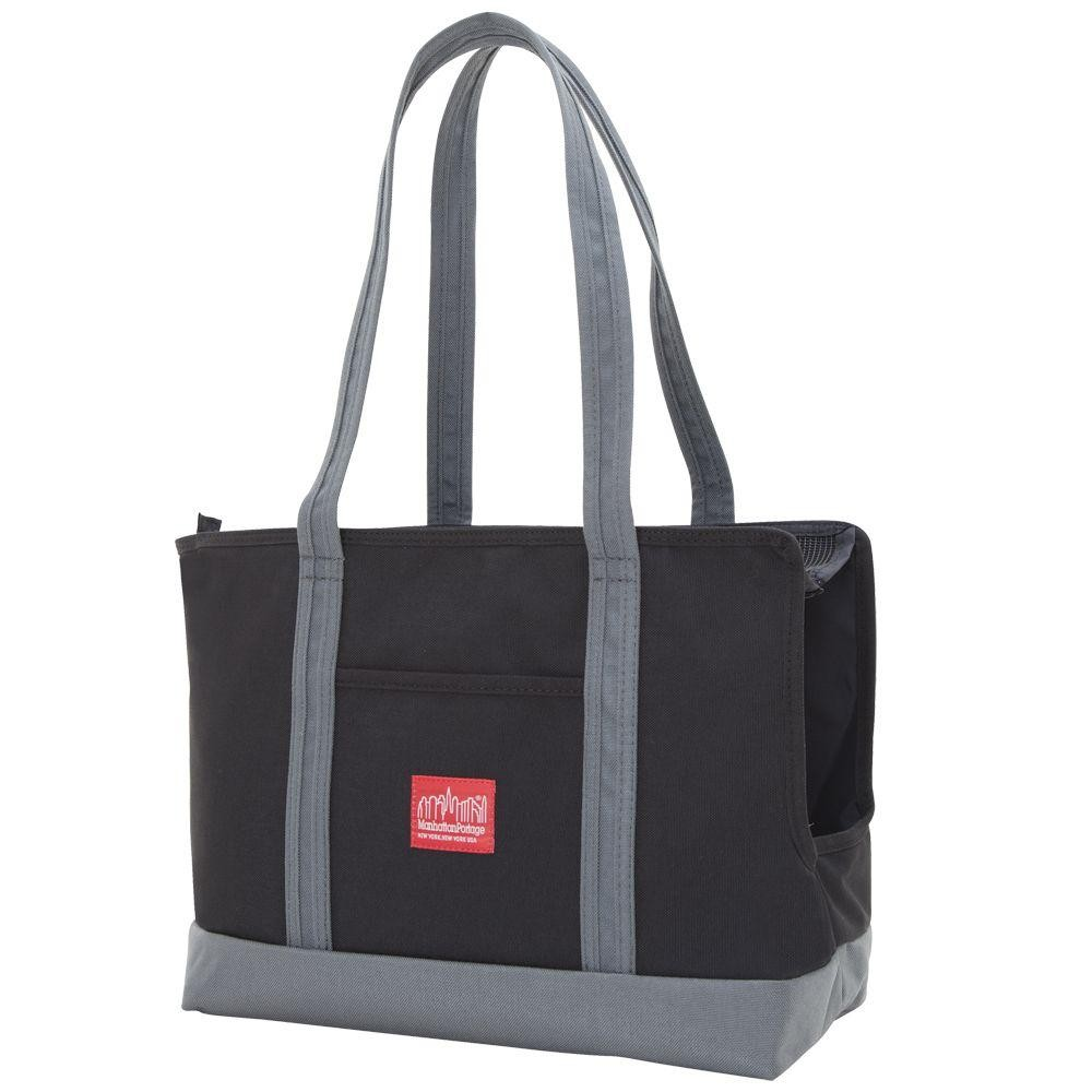 Pet Carrier Tote Bag in Black and Grey