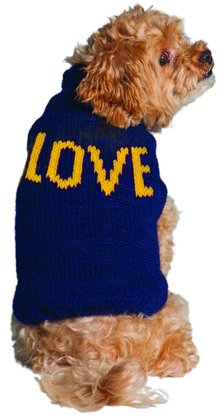 "Alpaca ""Love"" Knit Dog Sweater"