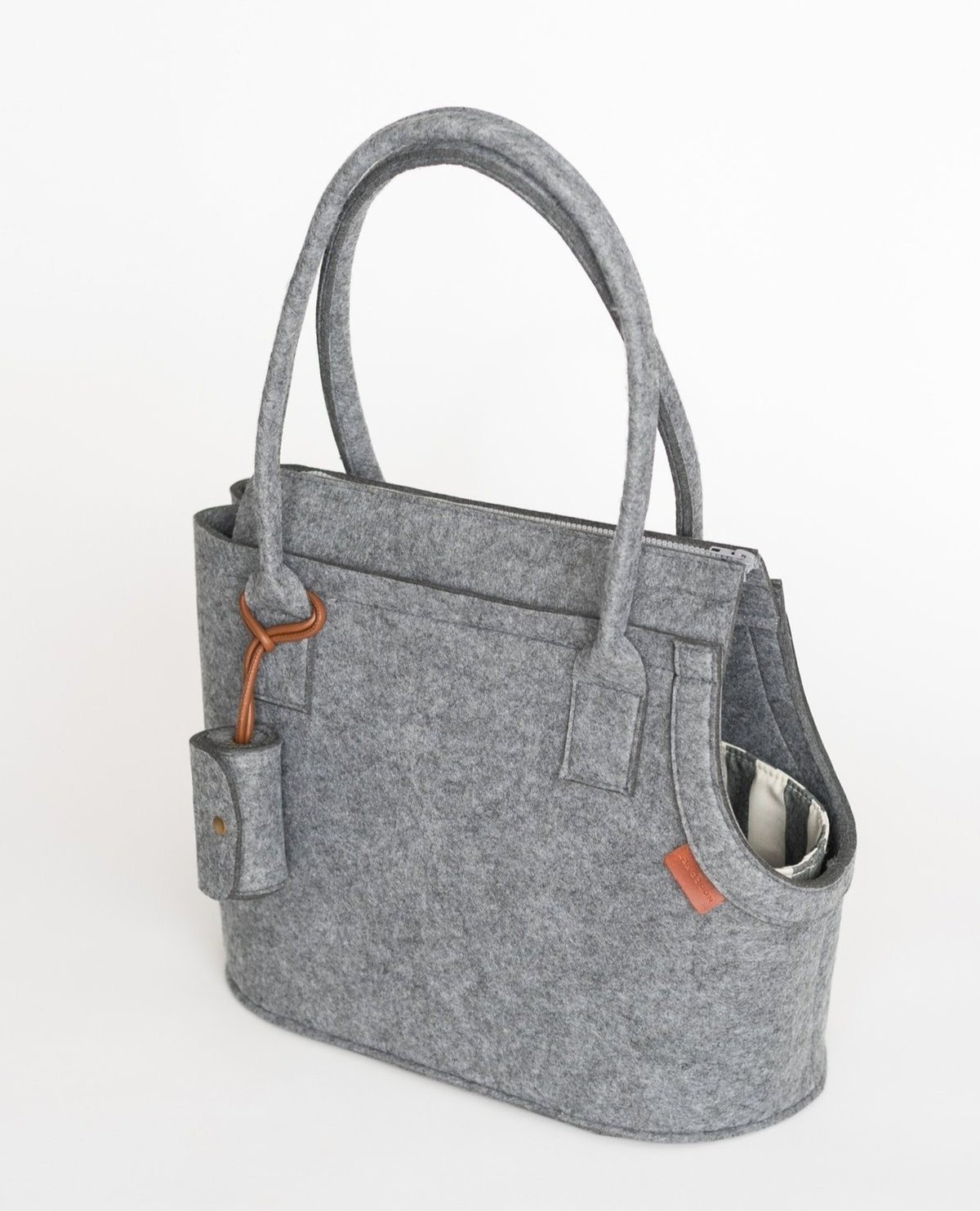 Modern Dog Carrier in Light Grey
