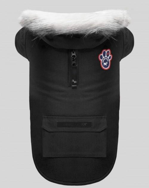 Warm Winter Dog Parka in Black