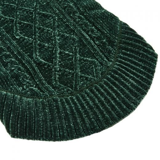 Soft Chenille Sweater in Forest Green