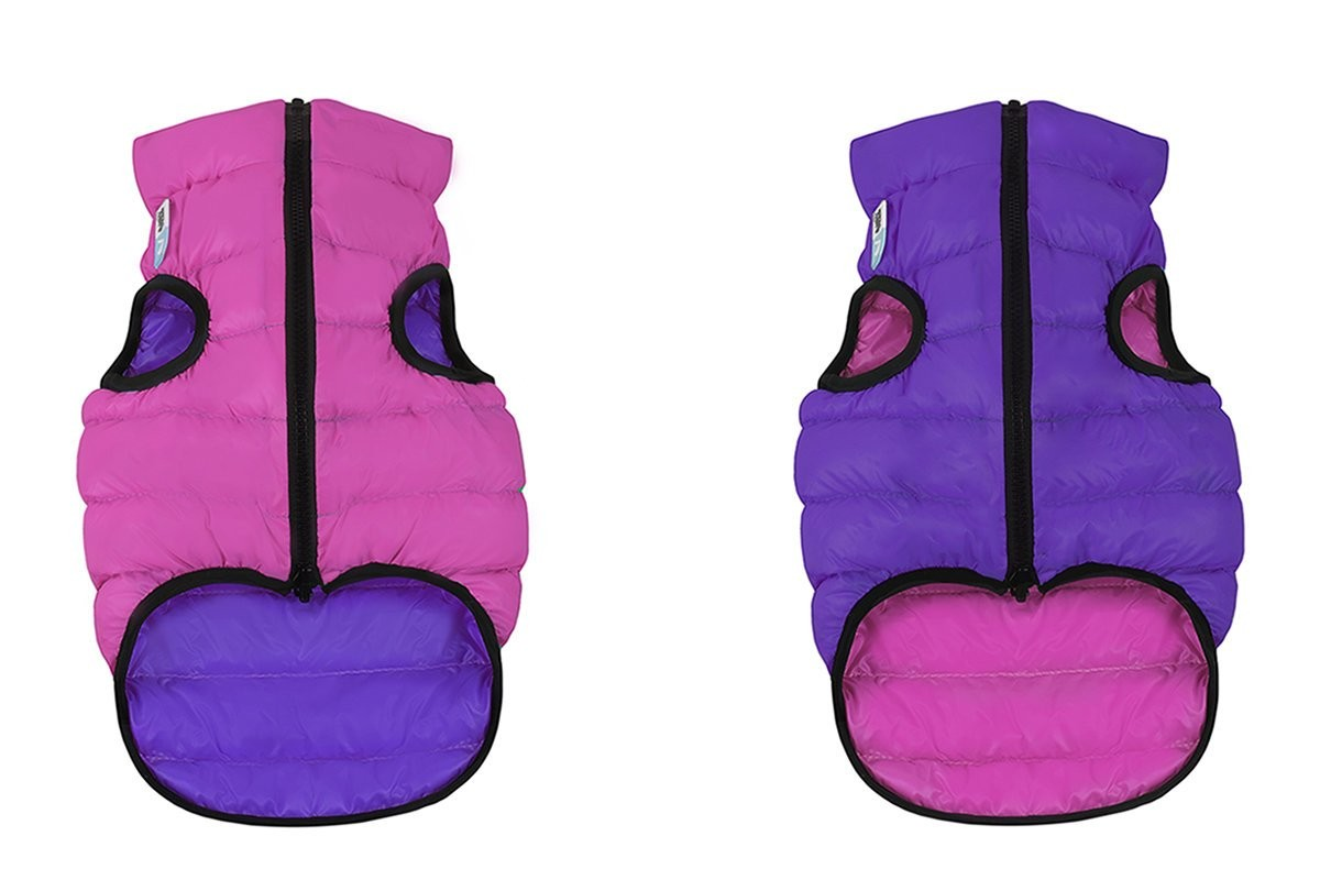 Little Reversible Vest in Pink and Purple