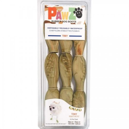 Camo Natural Rubber Dog Boots