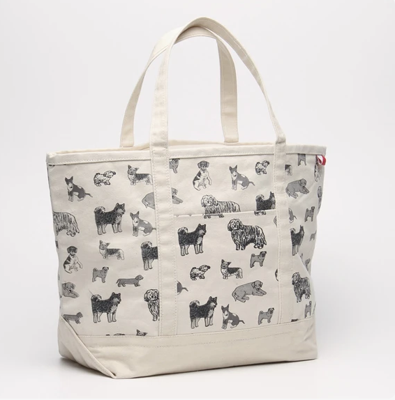 Useful Dog Print Tote in Natural