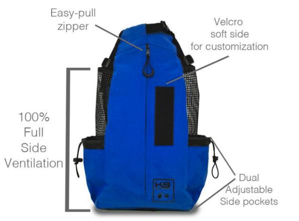 Dog Carrier Backpack in Blue