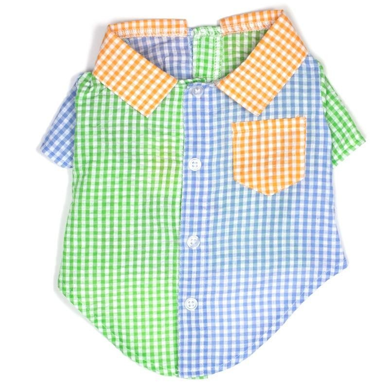 Colorful Gingham Colorblock Shirt