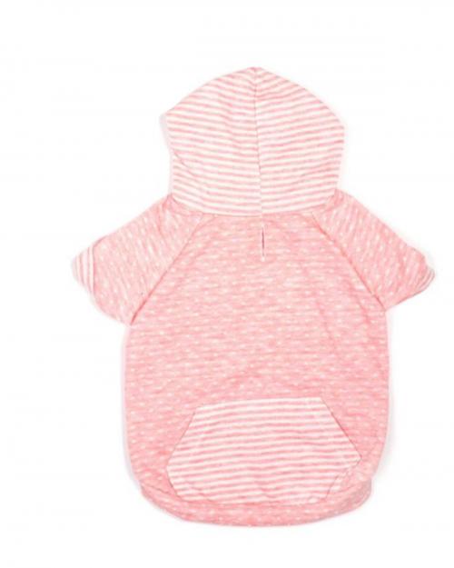 Sweet Pink Dot & Stripe Hoodie