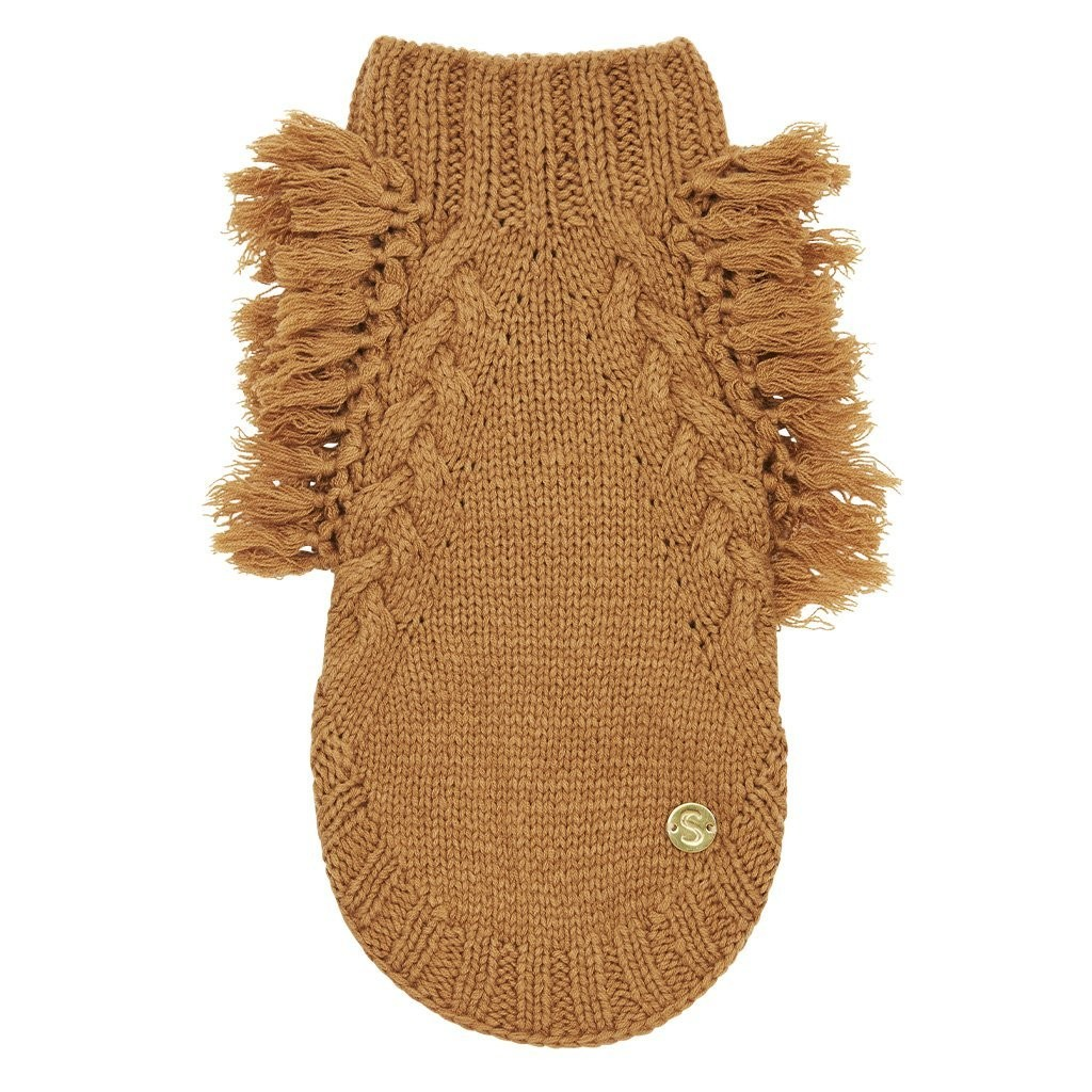 Merino Wool Fringe Dog Sweater