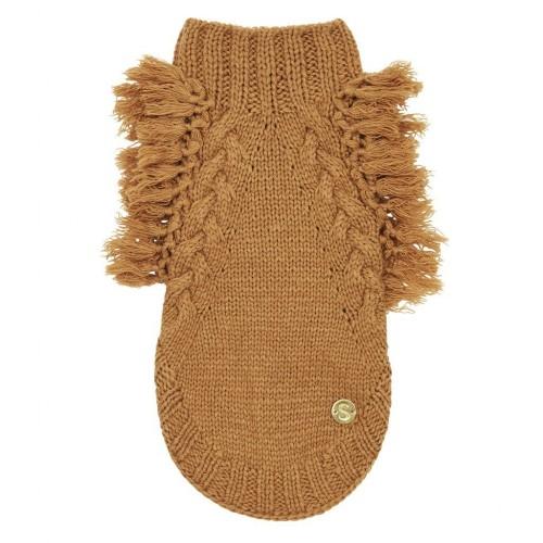 Merino Wool Fringe Dog Sweater