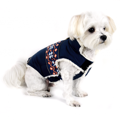 Navy Aspen Puffer Dog Jacket