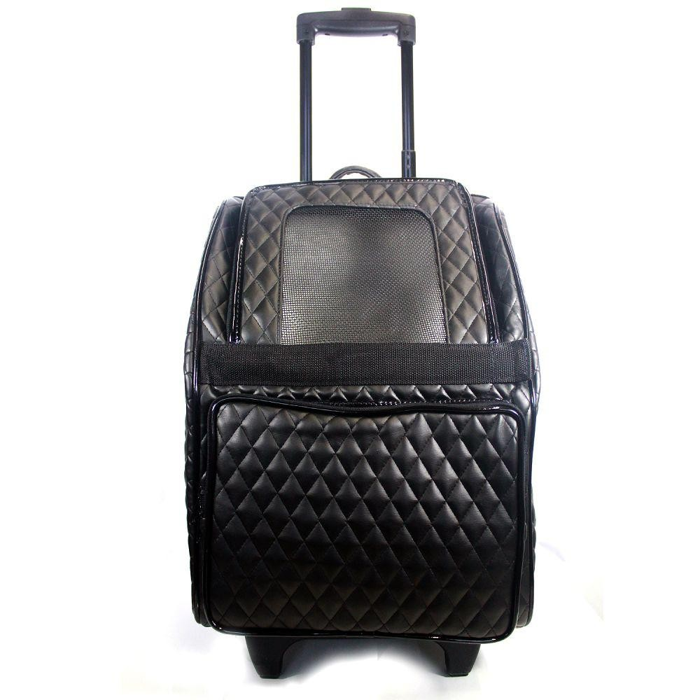 Quilted Wheeled Dog Carrier