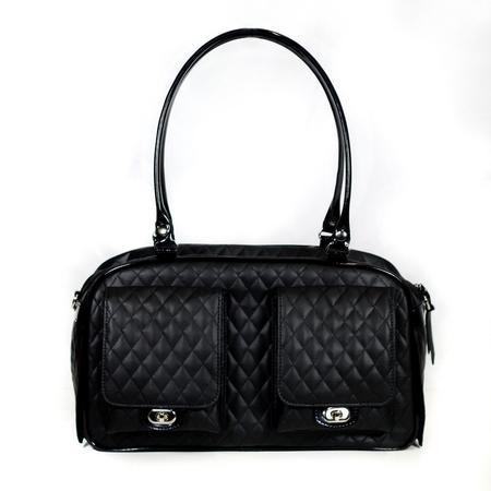 Black Quilted Dog Carrier