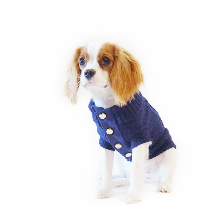 Lovely Dog Cardigan in Deep Navy
