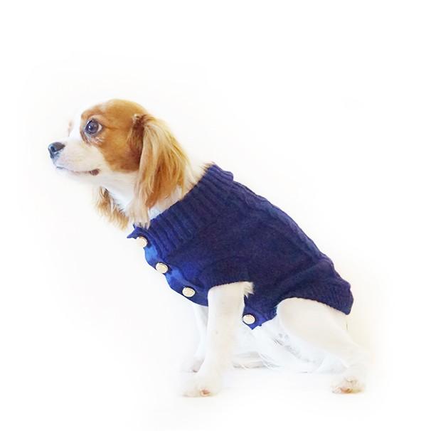 Lovely Dog Cardigan in Deep Navy