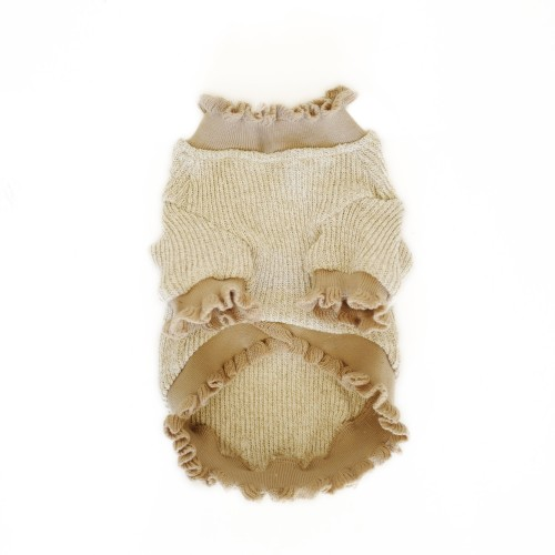 Beige Stylish Dog Sweater