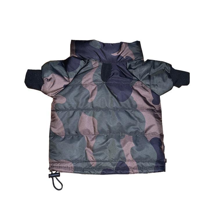 Chic Green Camo Puffer Jacket