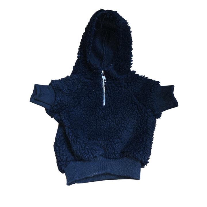 Stylish Black Sherpa Hoodie