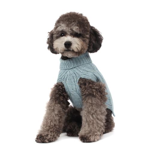 Lambswool Turtleneck Sweater in Blue