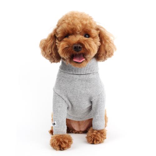 Basic Grey Dog Turtleneck