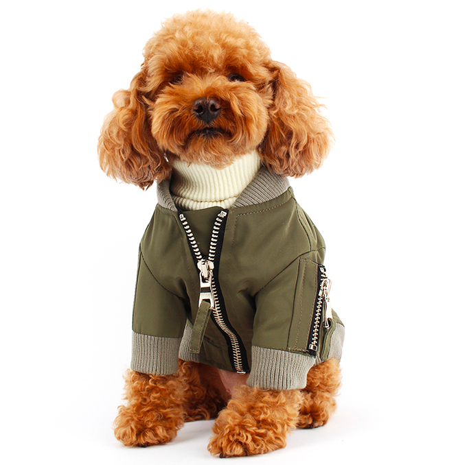 Perfect Pilot Dog Jumper in Khaki