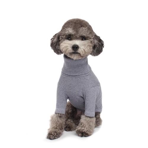 Basic Dog Turtleneck in Grey Blue