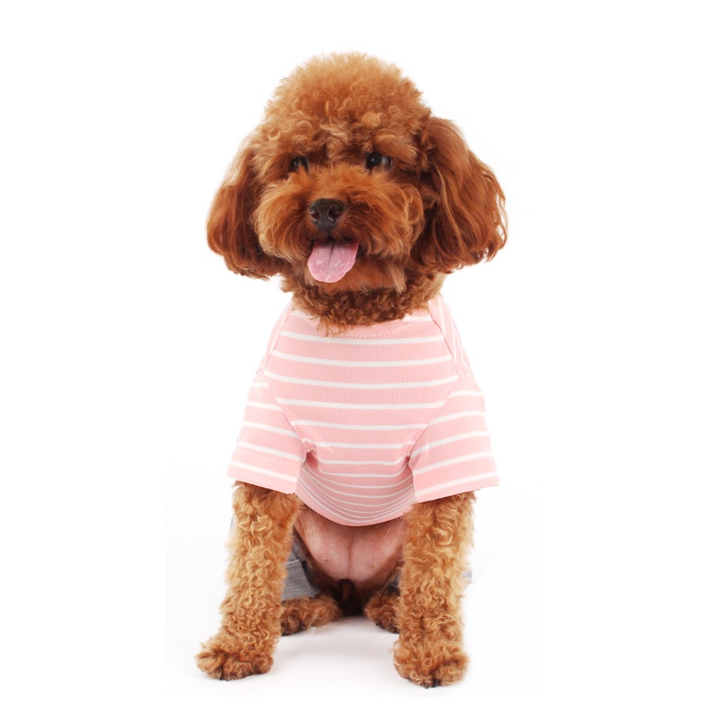 Pink Dog Stripe T-Shirt