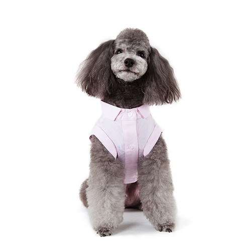 Pink Sleeveless Dog Shirt
