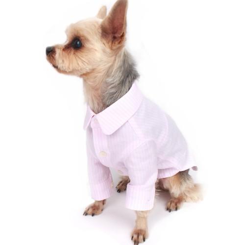 Pink Stripe Dog Shirt