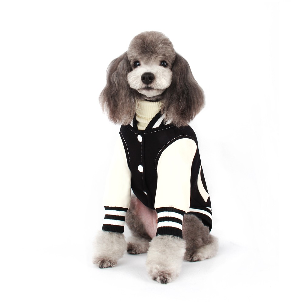 Black Baseball Dog Jumper