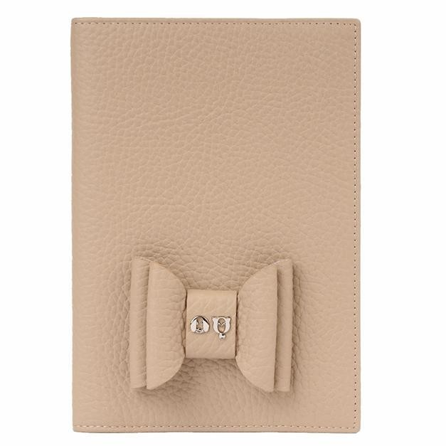 Elegant Pet Passport in Dark Beige