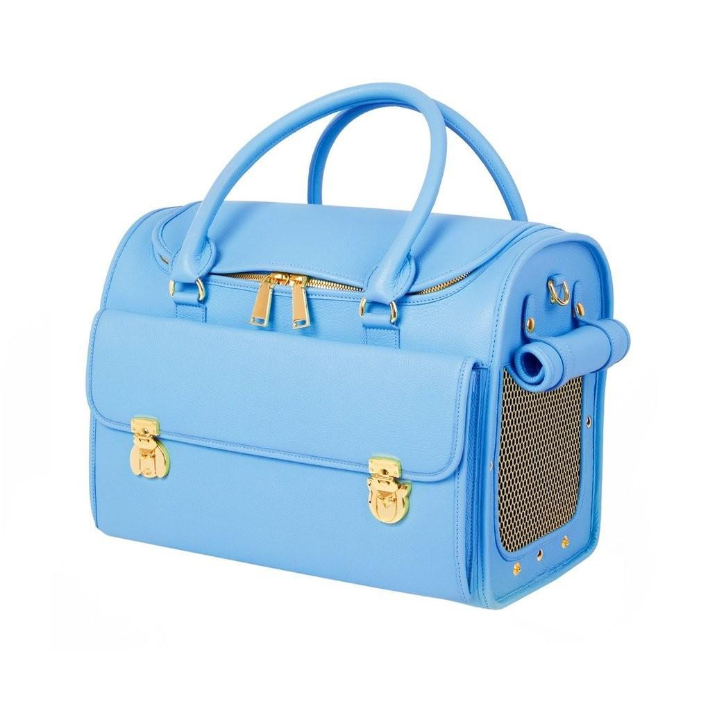 Modern Dog Travel Bag in Blue