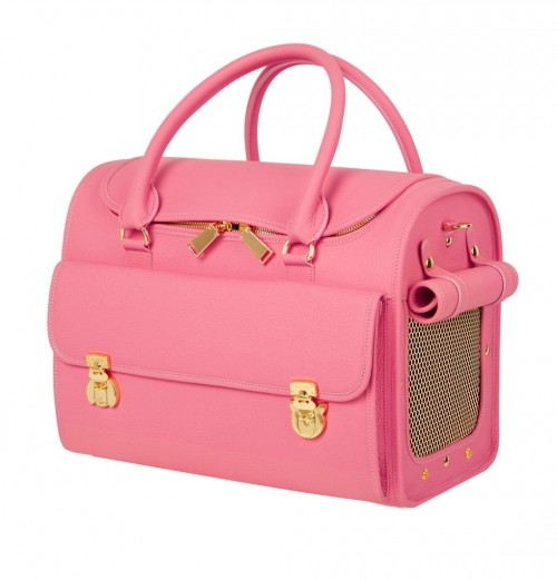 Classy Dog Travel Bag in Pink