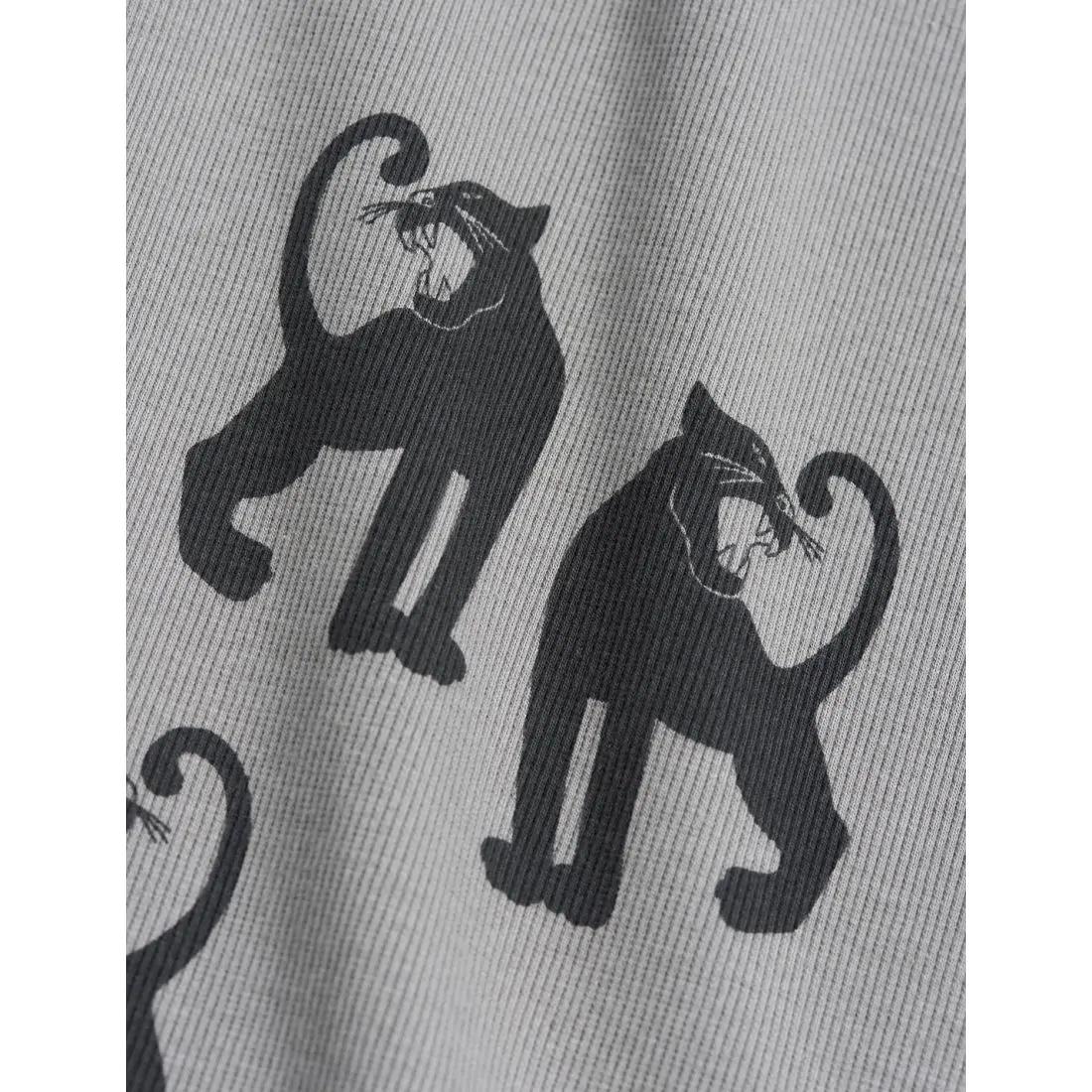 Panther Rib Kids Leggings in Grey