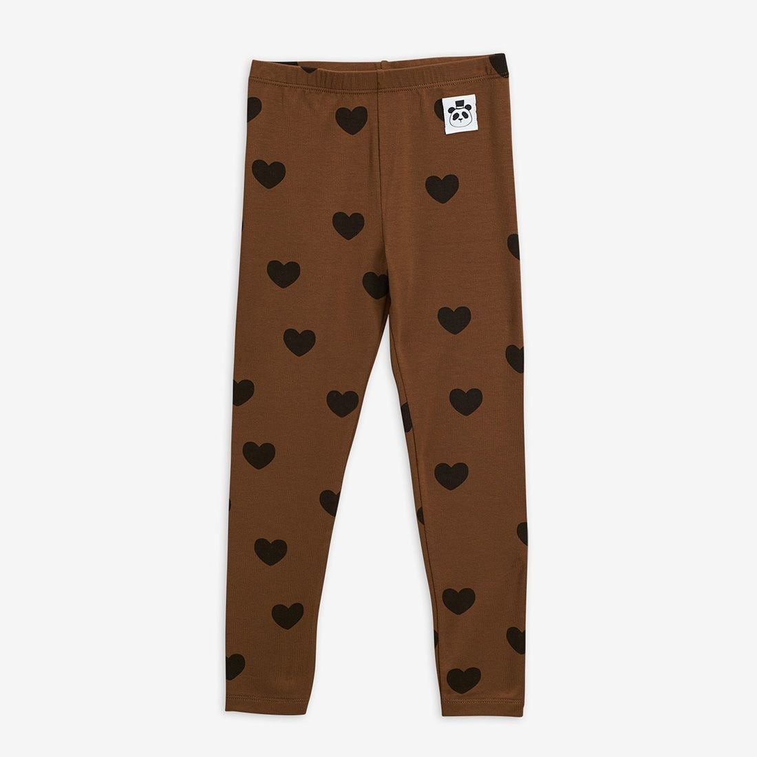 Brown Basic Hearts Leggings