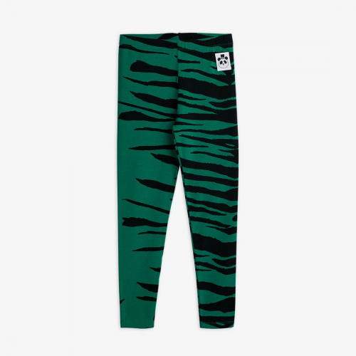 Green Basic Tiger Leggings