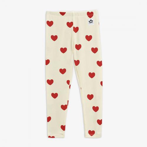 Beige Basic Hearts Leggings