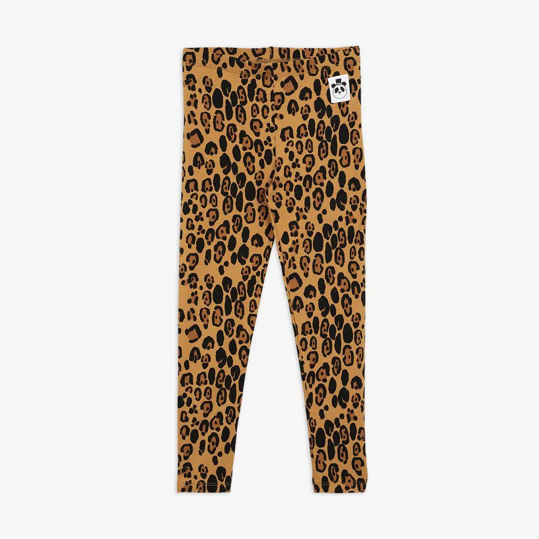 Beige Basic Leopard Leggings