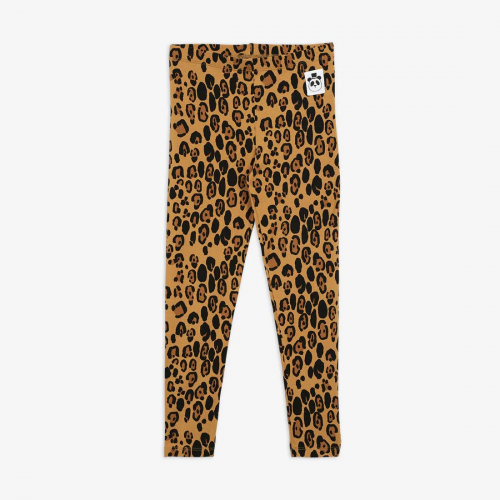 Beige Basic Leopard Leggings