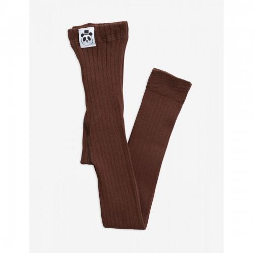 Brown Cozy Rib Leggings