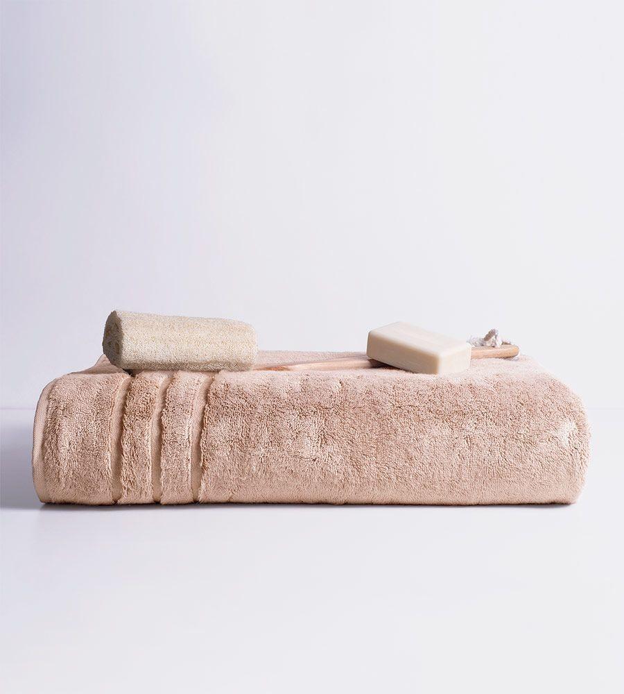 Eco-Friendly Bamboo Bath Sheet in Blush