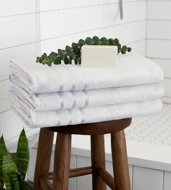 White Bamboo Bath Towel