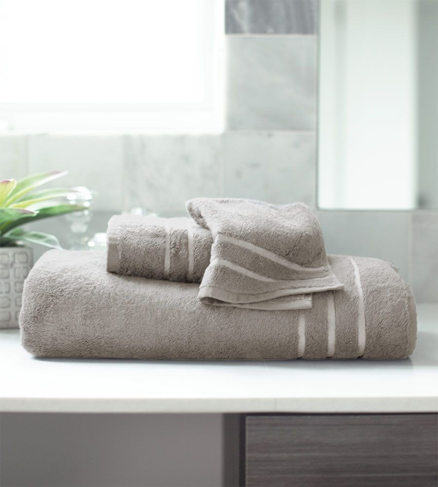 Harbor Gray Bamboo Bath Towel Set