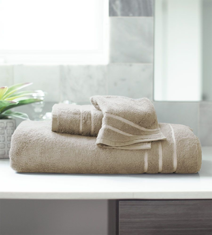 Soft Bamboo Bath Towel Set in Stone