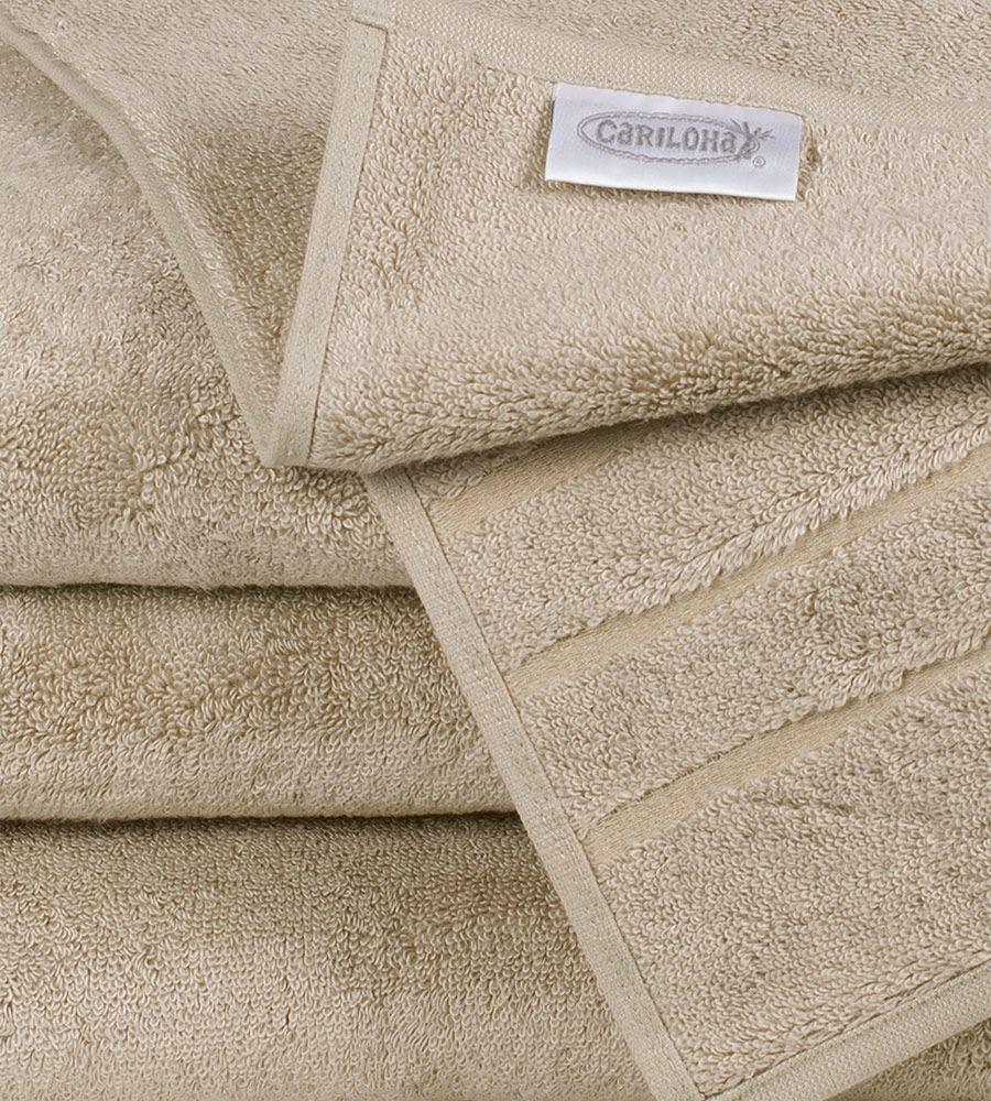 Soft Bamboo Bath Towel Set in Stone