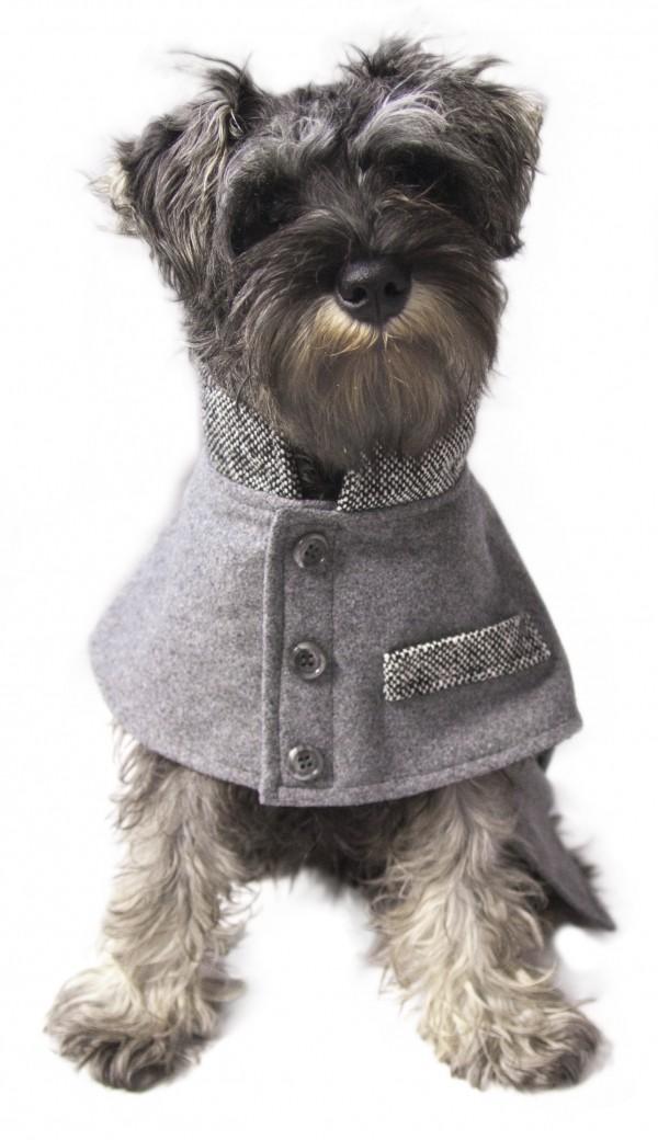 Comfy Grey Tweed Coat