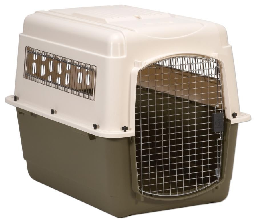 Large Bleached Linen Pet Carrier