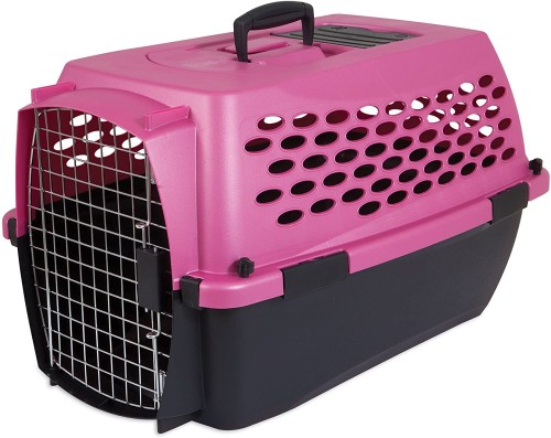 Pink Airline Pet Carrier & Airline Travel Kit